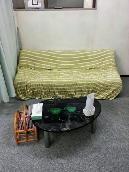 治療院のソファベット