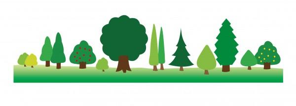 木と森のイラスト