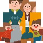 家族4人の写真